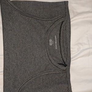 American eagle black and white tank top